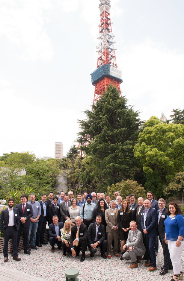 Pharma Logistics Network Attendees gather in the Shadow of the Tokyo Tower